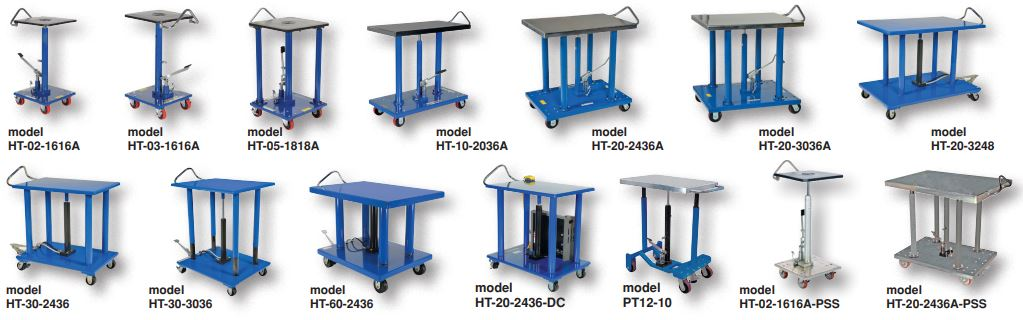 Hydraulic Post Tables
